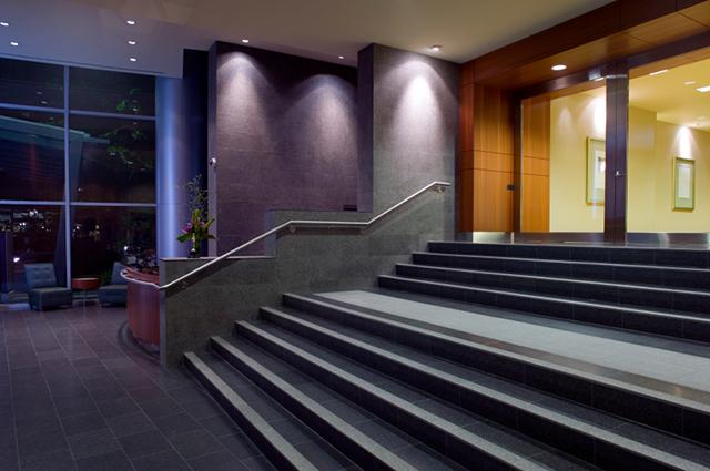 LED-spotlights på hotell