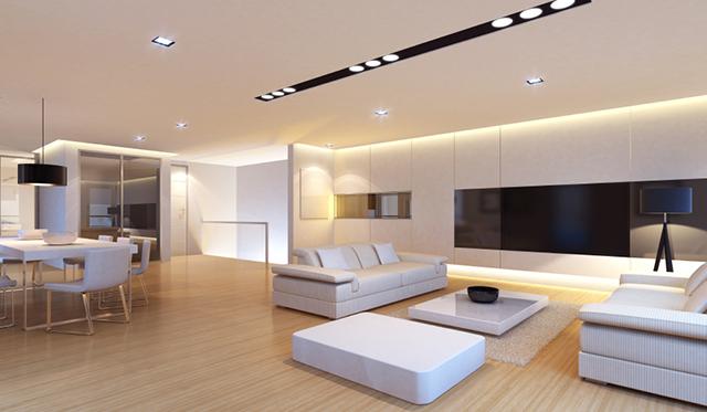 Spotlights i vardagsrum
